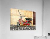 Red Piaggio Moped  Acrylic Print