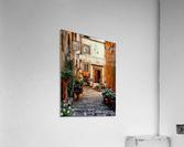Floral Courtyard Cortona Tuscany  Acrylic Print