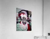 Broken Symmetry Red  Acrylic Print