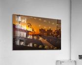 Sunset over the boardwalk  Acrylic Print
