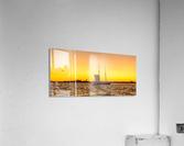 Sunset over the NY harbor  Acrylic Print