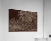Full Bloom Sepia  Acrylic Print