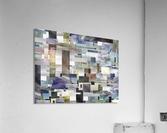 Gray Geometry Watercolor Geometrics Decorative Blocks XIV  Acrylic Print