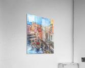 Venice Canal And Gondolier Italian City Landscape   Acrylic Print