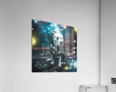 cosmos background space dog  Acrylic Print