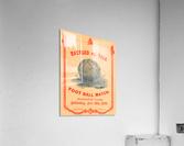 1876 Harvard vs. Yale Football Program Art  Acrylic Print