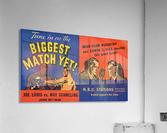 1936 Joe Louis vs. Max Schmeling  Acrylic Print