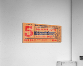 1950_National Football League_Philadelphia Eagles vs. New York Giants_Polo Grounds_NYC_Row One Brand  Acrylic Print