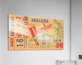1940 Indiana vs. Purdue Football Ticket Canvas  Acrylic Print