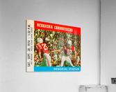 college football ticket art nebraska cornhuskers 1974 ticket stub  Acrylic Print
