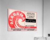 1975 University of Alabama Crimson Tide Football Ticket Stub Art Poster  Acrylic Print