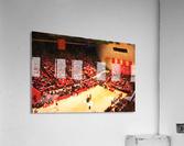 1987_College_Basketball_Indiana Hoosiers_Bloomington Assembly Hall Watercolor Basketball Art Print  Acrylic Print