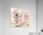 1960 baltimore orioles baseball score card art baseball poster  Acrylic Print