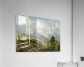 Blick von der Wengerenalp auf Eiger und Monch  Acrylic Print