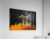 Newark New Jersey Skyline Wall Art  Acrylic Print
