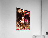 1985 Michael Jordan Dunk Poster Bulls 20th Anniversary  Acrylic Print
