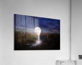 moon landscape night fantasy  Acrylic Print