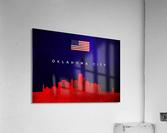Oklahoma City Oklahoma Skyline Wall Art  Acrylic Print