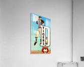 retro remix detroit tigers poster  Acrylic Print