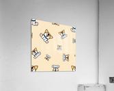 cute welsh corgi puppy sitting seamless pattern  Acrylic Print