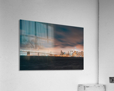 Cloudy San Francisco Night Skyline  Impression acrylique