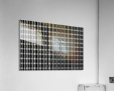 Black and White Skyscraper Windows  Impression acrylique