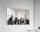 Black and White San Francisco Skyline  Acrylic Print
