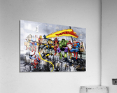 MORE Marvel DC Superheroes Lunch On A Skyscraper New Art Extra Heroes  Acrylic Print