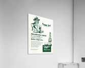 vintage philadelphia eagles miller high life ad poster  Acrylic Print