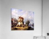 Leickert Charles Henri View on a village near to a river Sun  Acrylic Print