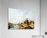 Summer river landscape  Acrylic Print