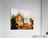 Villagers and horse at tollgate Sun  Acrylic Print