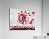 Myona red flower  Acrylic Print