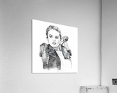 Selena Gomez - Celebrity Pencil Art  Impression acrylique