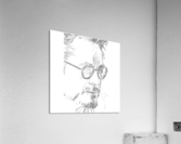Robert Downy Jr. - Celebrity Pencil Art  Impression acrylique
