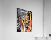 1983 Magic Johnson LA Lakers Retro Poster  Acrylic Print