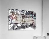Lambretta Scooter Black and White  Acrylic Print
