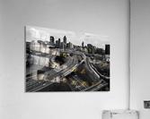Interstate 75 85 Aerial View   Atlanta GA 0225  Acrylic Print