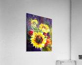 Impressionism And Sunflowers  Acrylic Print