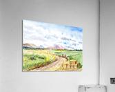 Farm Road The Mountains landsape  Acrylic Print