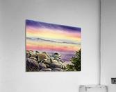 Purple Sunset At The Lake  Acrylic Print