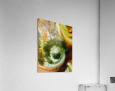 Fall Vortex Of Green Yellow Orange And Brown Abstract Watercolor   Acrylic Print
