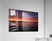 Wellington City Lake Sunset  Acrylic Print
