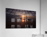 Sunset on Sker Beach  Acrylic Print