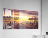 Peaceful Sunset At The Lake  Acrylic Print