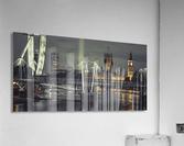 Night view of the London Eye, Golden Jubilee bridge and Westminster, London, UK  Acrylic Print