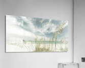 Heavenly calmness on the beach | Panoramic Vintage  Acrylic Print