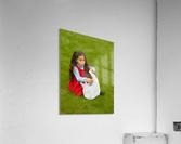 Easter Egg Hunt Girl  Acrylic Print