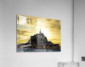 Golden Mont St Michel - Normandy France  Acrylic Print