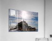 Mount Saint Michael The Fires of Heaven - Normandy France  Acrylic Print